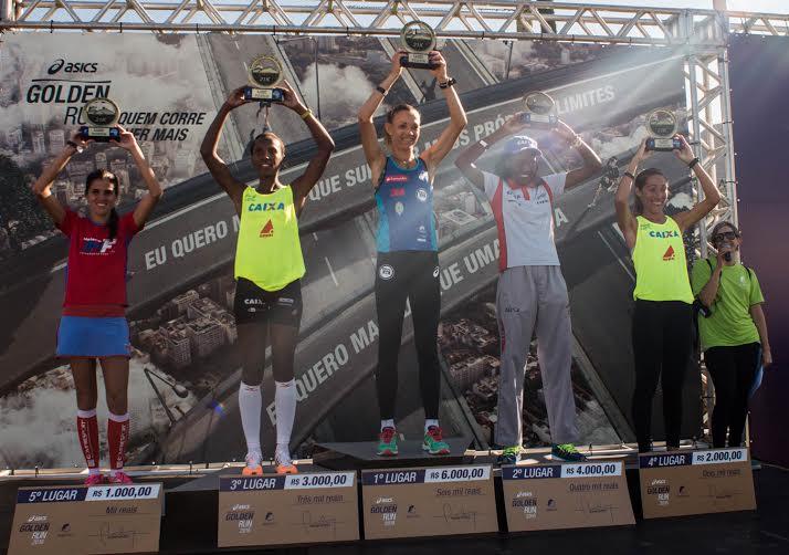Pódio feminino Asics Golden Run Rio 2016