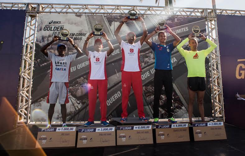 Pódio masculino Asics Golden Run Rio 2016