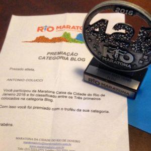 Trofeu Maratona do Rio 2016 categoria BLOG