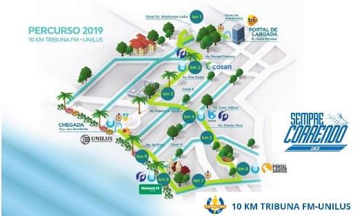 2.300 vagas nas primeiras horas 10Km Tribuna FM Unilus