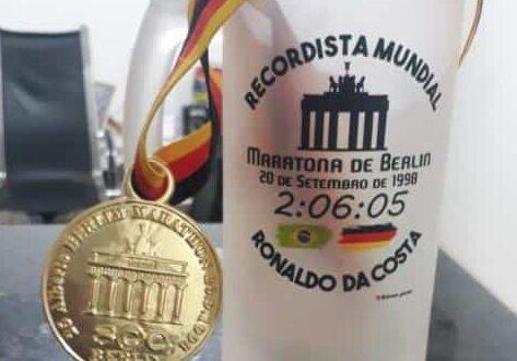 Fraldas para o mais rápido maratonista brasileiro