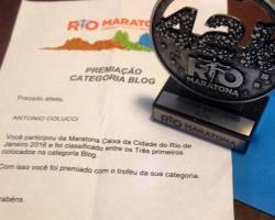 Trofeu Maratona do Rio 2016 categoria BLOG